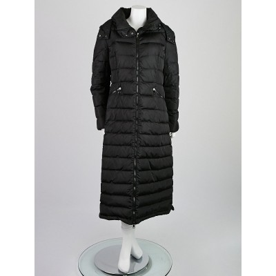 Moncler Black Flammong Long Puffer Jacket Size 5