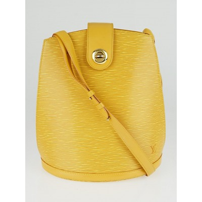 Louis Vuitton Tassil Yellow Epi Leather Cluny Bag