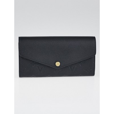 Louis Vuitton Black Monogram Empreinte Leather Sarah Wallet