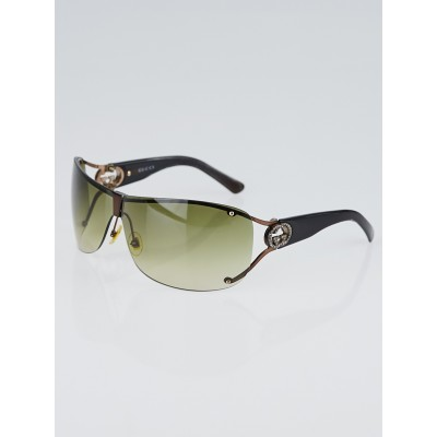 Gucci Brown Acetate Crystal GG Logo Sunglasses 2807/S