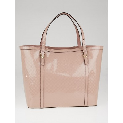 Gucci Beige Microguccissima Patent Leather Nice Tote Bag