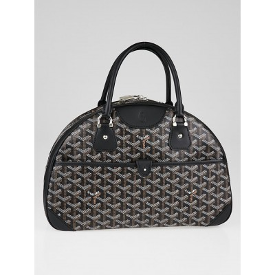 Goyard Black Chevron Print Coated Canvas St. Jeanne MM Bag