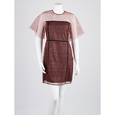 Burberry London Garnet Mesh Polyamide Blend Eleanor Abyel Dress Size 4/38