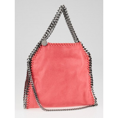 Stella McCartney Pink Shaggy Dear Faux-Leather Mini Falabella Bag