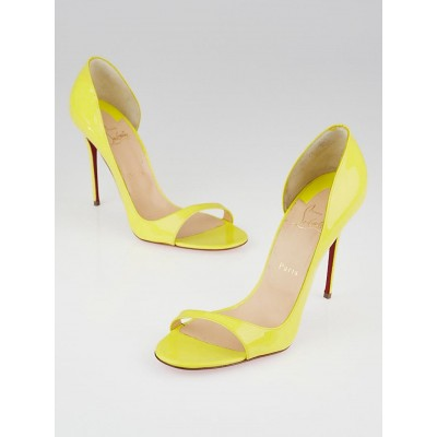 Christian Louboutin Sun Patent Leather Tobaggoan 100 Sandals Size 10.5/41