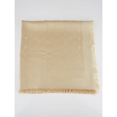 Louis Vuitton Beige Monogram Shine Shawl Scarf