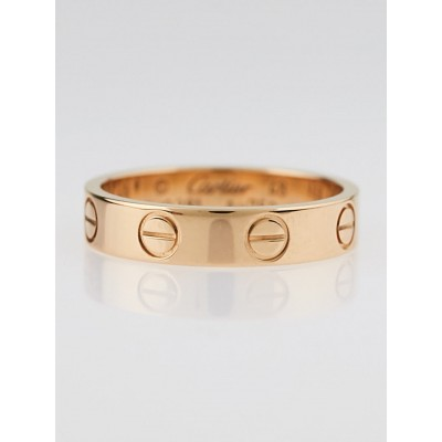 Cartier 18k Pink Gold LOVE Ring Size 4.25/48
