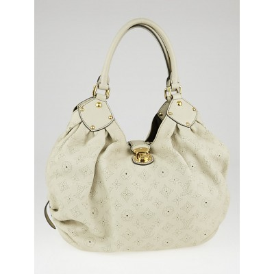 Louis Vuitton Lin Monogram Mahina Leather L Bag