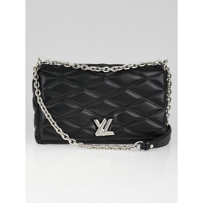Louis Vuitton Black Leather Twist MM Bag