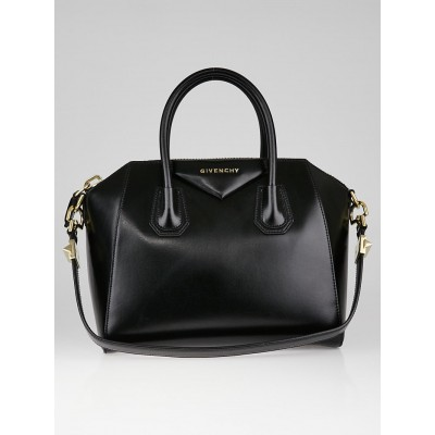 Givenchy Black Box Cowhide Leather Small Antigona Bag