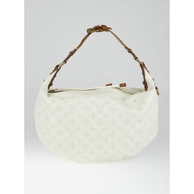 Louis Vuitton Limited Edition White Leather Onatah GM Bag