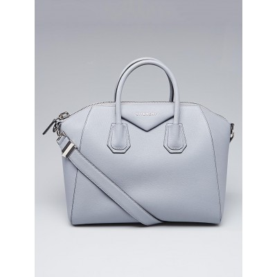 Givenchy Grey Blue Sugar Goatskin Leather Medium Antigona Bag