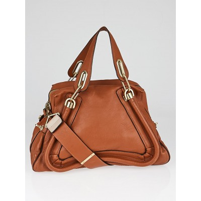 Chloe Brown Leather Small Paraty Military Bag