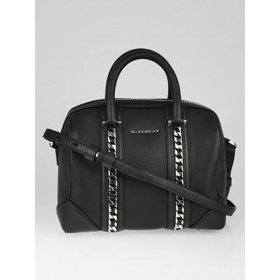 Givenchy Black Goatskin Leather  Chain Animation Lucrezia Mini Duffle Bag