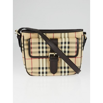 Burberry Haymarket Check Coated Canvas Crossbody Bag