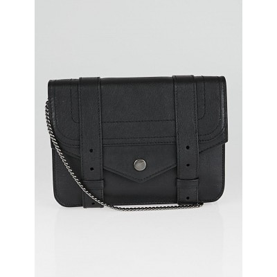 Proenza Schouler Black Leather PS1 Large Wallet on a Chain Bag