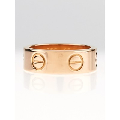 Cartier 18k Rose Gold LOVE Ring Size 45/3.5