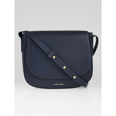 Mansur Gavriel Blue Smooth Leather Crossbody Bag