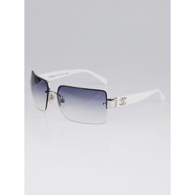 Chanel White Acetate and Frameless CC Logo Sunglasses 4107-B