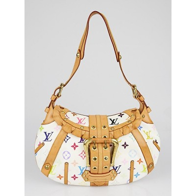 Louis Vuitton Limited Edition White Monogram Multicolore Leonor Bag