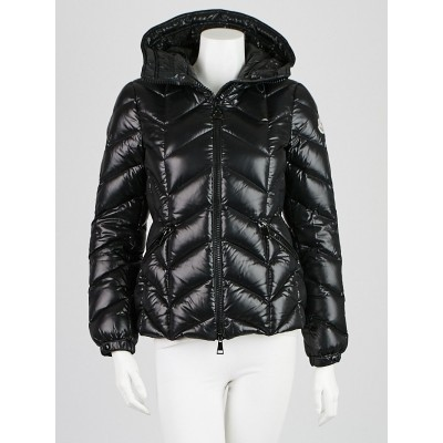 Moncler Black Quilted Nylon Down Jacket Size 0/XS
