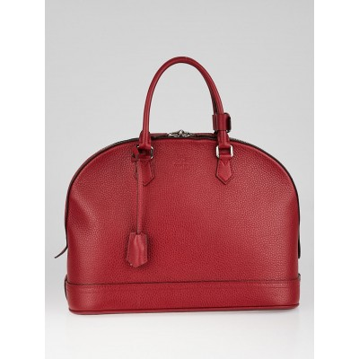 Louis Vuitton Rouge Taurillon Leather Alma MM Bag