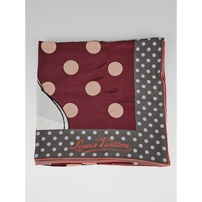 Louis Vuitton Cerise Carre Balloon Dot Silk Scarf
