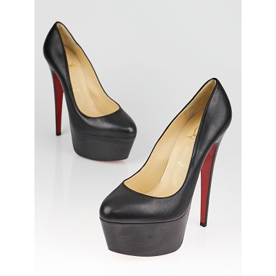 Christian Louboutin Black Leather Daffodile 160 Pumps Size 8.5/39