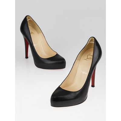 Christian Louboutin Black Leather Rolando 120 Pumps Size 5/35.5