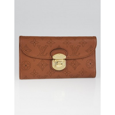 Louis Vuitton Cognac Monogram Mahina Leather Amelia Wallet