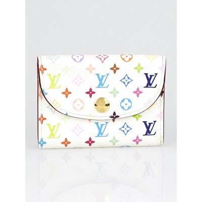 Louis Vuitton White Monogram Multicolore Visite Business Card Holder