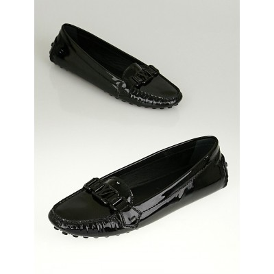 Louis Vuitton Black Patent Leather Oxford Loafers Size 9.5/40