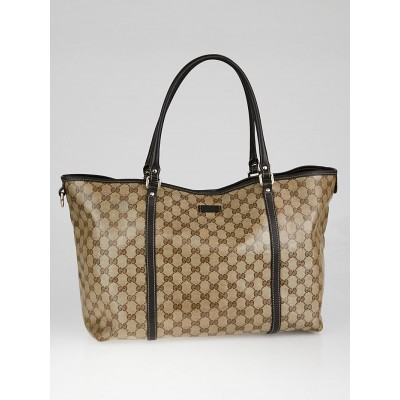 Gucci Beige/Ebony GG Crystal Coated Canvas Joy Tote Bag