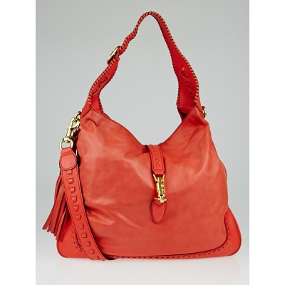 Gucci Orange Leather Large New Jackie Hobo Bag