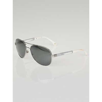 Chanel Silver Frame Mirror Tint Aviator Sunglasses-4179