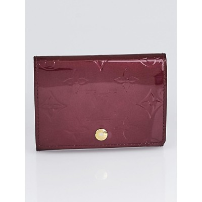 Louis Vuitton Rouge Fauviste Monogram Vernis Business Card Holder