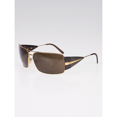 Prada Goldtone Metal Frame Tinted Aviator Sunglasses- SPR55