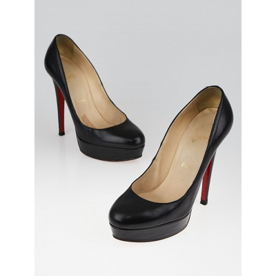 Christian Louboutin Black Leather Bianca 140 Pumps Size 6.5/37