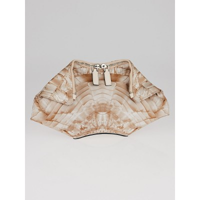 Alexander McQueen Blush Pink Printed Silk  De Manta Clutch Bag