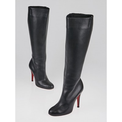 Christian Louboutin Black Leather Tall Boots Size 3.5/34