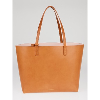 Mansur Gavriel Cammello/Rosa Calf Coated Leather Large Tote Bag