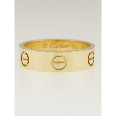 Cartier 18k Yellow Gold LOVE Ring Size 7.25/55