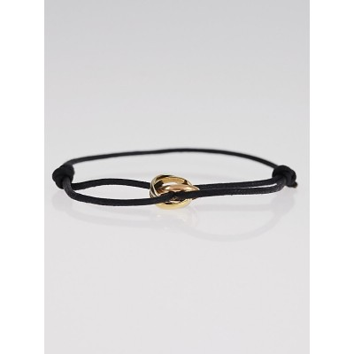 Cartier 18k Tri-Color Gold Trinity Leather Cord Bracelet