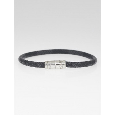 Louis Vuitton Damier Graphite Canvas Keep It Bracelet
