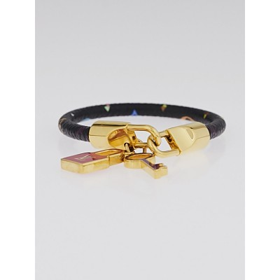 Louis Vuitton Black Monogram Multicolore Luck It Bracelet
