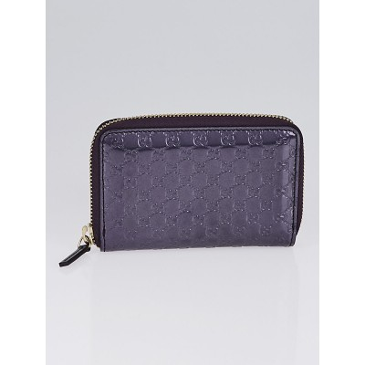 Gucci Violet Microguccissima Patent Leather Small Zip Card Case