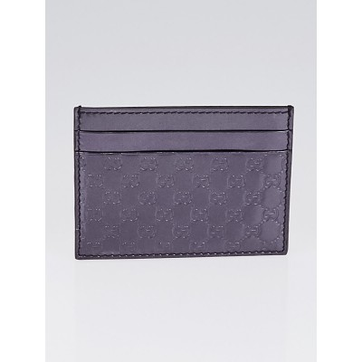 Gucci Violet Microguccissima Patent Leather Card Holder
