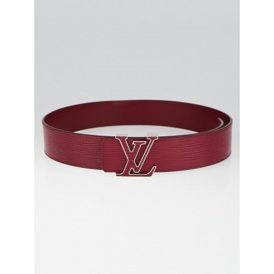 Louis Vuitton Red Epi Leather LV Initials 40mm Belt