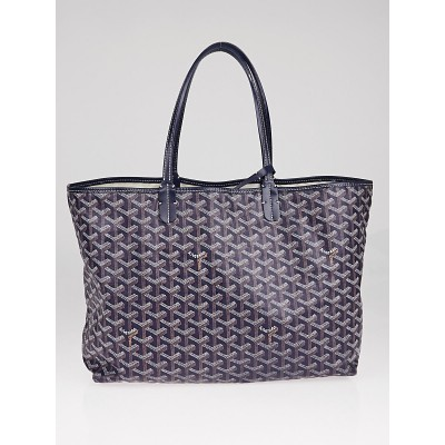 Goyard Blue Chevron Print Coated Canvas St. Louis PM Tote Bag