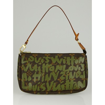 Louis Vuitton Limited Edition Khaki Graffiti Stephen Sprouse Accessories Pochette Bag